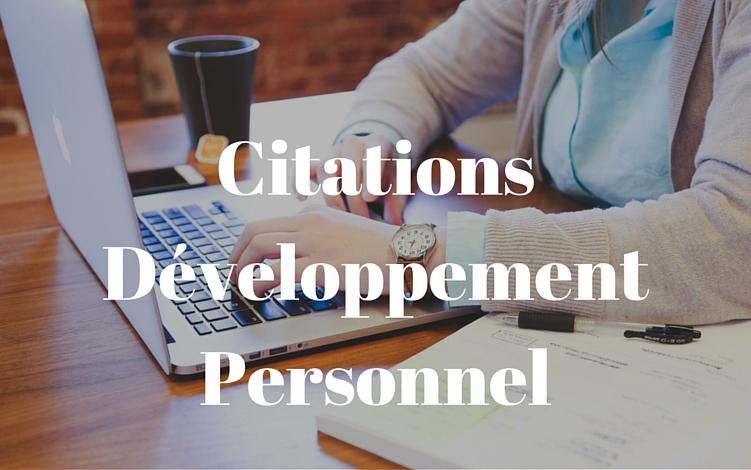 Trouvez une citation développement personnel
